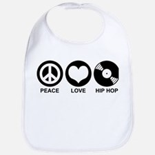 Peace Love Hip Hop Bib