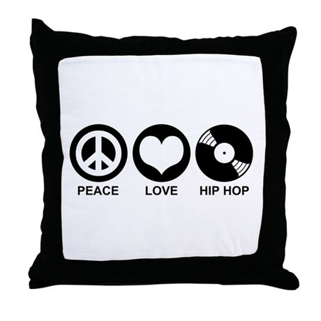 Peace Love Hip Hop Throw Pillow By Snapetees