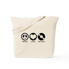 Peace Love Hip Hop Tote Bag