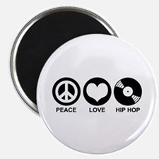 Peace Love Hip Hop Magnet