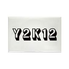 Y2K12 Black Rectangle Magnet