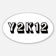 Y2K12 Black Oval Decal