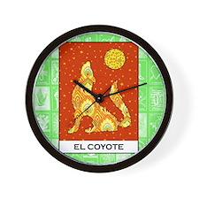 El Coyote 2 Wall Clock