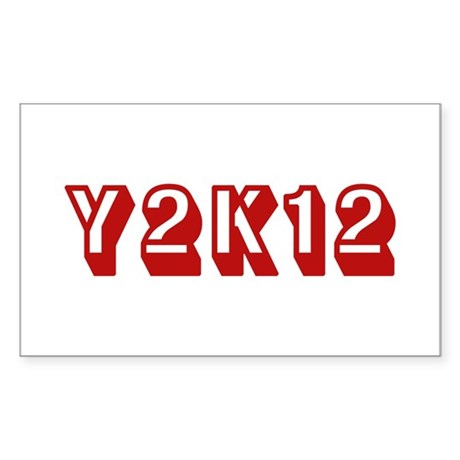 Y2K12 Red Rectangle Sticker