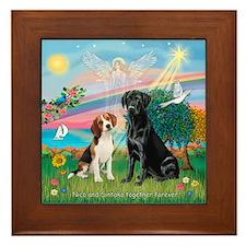 Nico and Sintaka Framed Tile