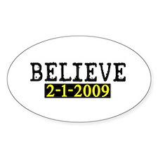 Believe (Steelers) Oval Decal