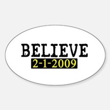 Believe (Steelers) Oval Decal