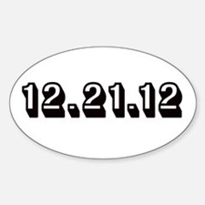 12.21.12 Black Oval Decal
