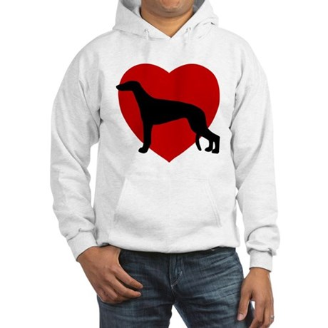 Greyhound Valentine's Day Hooded Sweatshirt