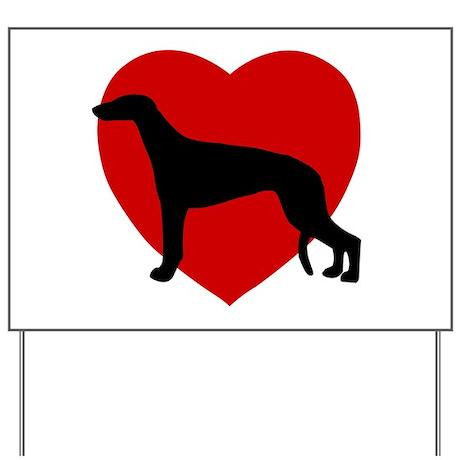 Greyhound Valentine's Day Yard Sign