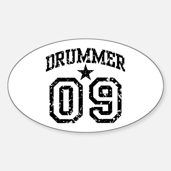 Drummer 09 Oval Decal