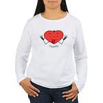 Valentine's Day Thpppttt! Women's Long Sleeve T-Sh