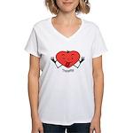 Valentine's Day Thpppttt! Women's V-Neck T-Shirt