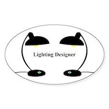 Lighting Designer 3 Oval Decal
