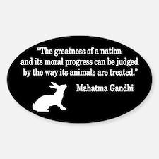 Moral Values Quote Oval Sticker (50 pk)
