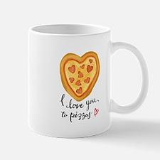 i love you to pizzas Mugs