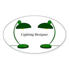 Lighting Designer 4 Oval Decal