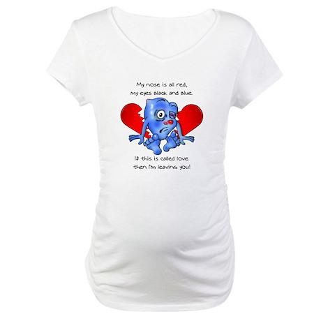 """""""Beaten Heart"""" Maternity T-Shirt"""