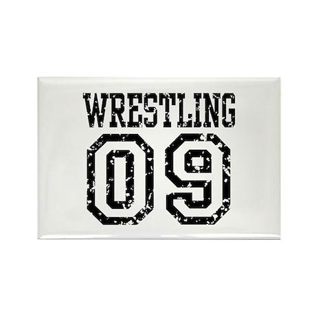 Wrestling 09 Rectangle Magnet