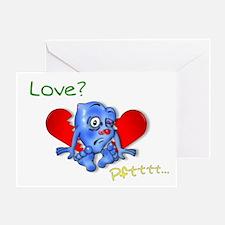 """Beaten Heart"" (love) Greeting Card"