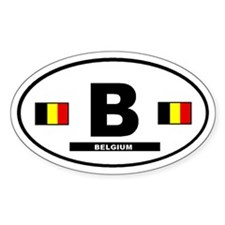 Belgium International Style Oval Decal