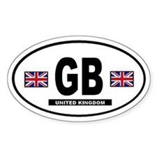 Great Britain International Style Oval Sticker 2