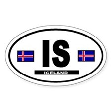 Iceland International Style Oval Decal