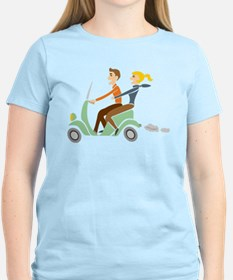 Scooter Retro Couple T-Shirt