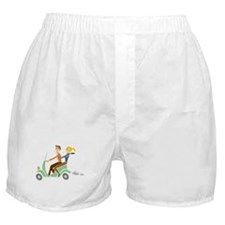 Scooter Retro Couple Boxer Shorts