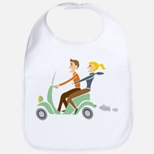 Scooter Retro Couple Bib