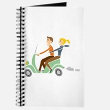 Scooter Retro Couple Journal