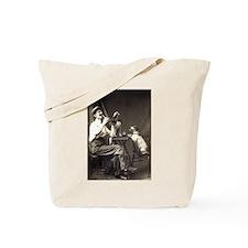 Cute Jack russell terrier vintage Tote Bag