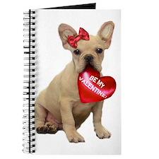 Be my Valentine French Bulldog Journal
