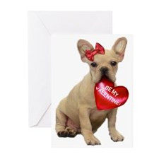 Valentine French Bulldog Greeting Cards (Pk o