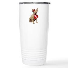 Be my Valentine French Bulldog Travel Mug