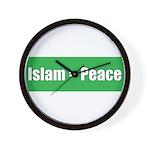 Islam means Peace Wall Clock