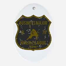 Business Major Ninja League Oval Ornament