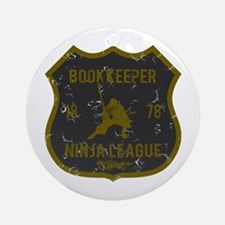 Bookkeeper Ninja League Ornament (Round)