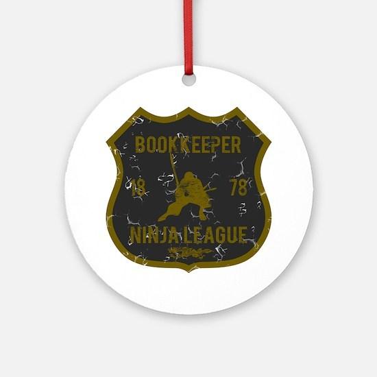 Bookkeeper Ninja League Ornament (Round)