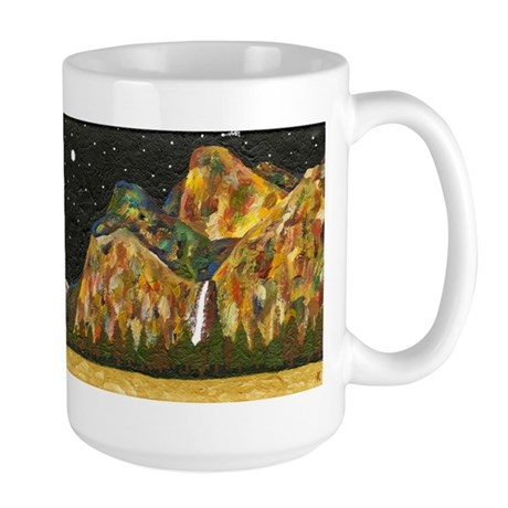 Bridal Veil Falls at Dusk, Yosemite, Large Mug