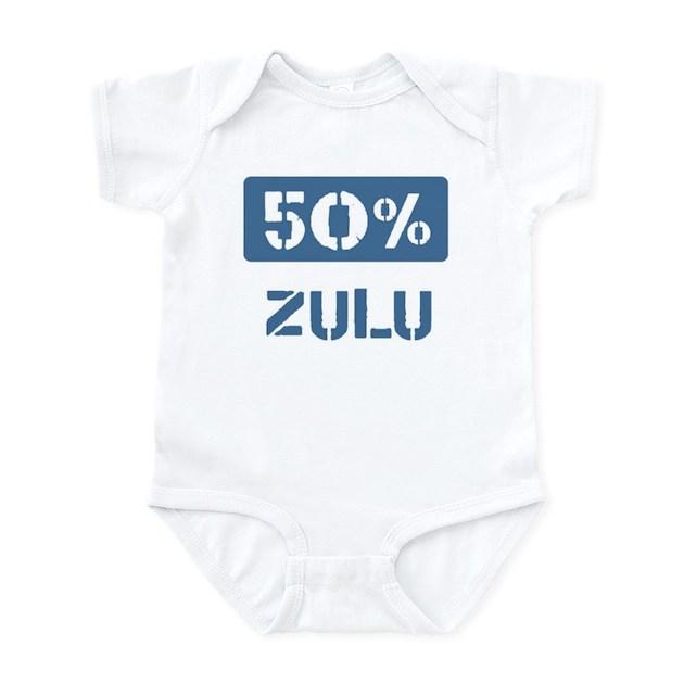 50 Percent Zulu Infant Bodysuit Baby Light Bodysuit