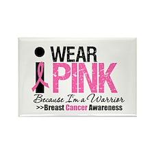 I Wear Pink Warrior Rectangle Magnet (10 pack)