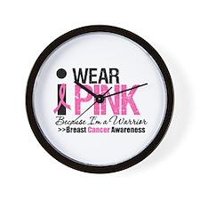 I Wear Pink Warrior Wall Clock