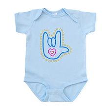 Blue Bold Love Hand Infant Bodysuit