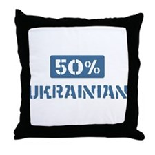 50 Percent Ukrainian Throw Pillow