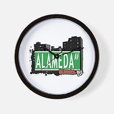 ALAMEDA AVENUE, QUEENS, NYC Wall Clock