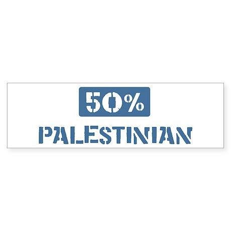 50 Percent Palestinian Bumper Sticker (10 pk)
