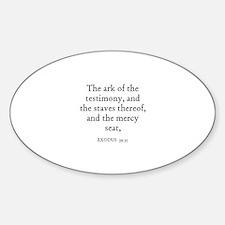 EXODUS 39:35 Oval Decal