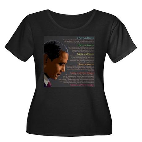 Obama / I Have a Dream Women's Plus Size Scoop Nec