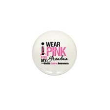 I Wear Pinnk For My Grandma Mini Button (10 pack)